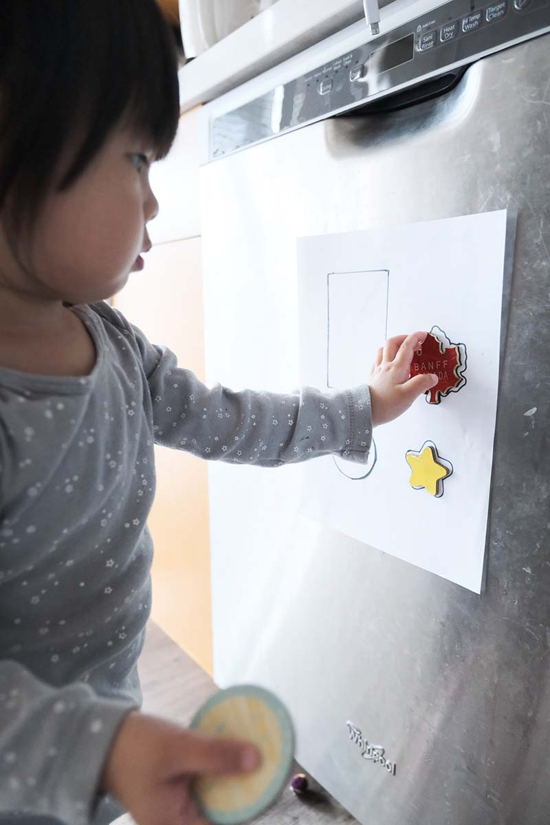 Fridge Magnet Shape Matching Game for Young Toddlers